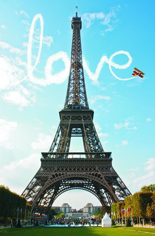 Puzzle Gold Amor en París de 1000 Piezas