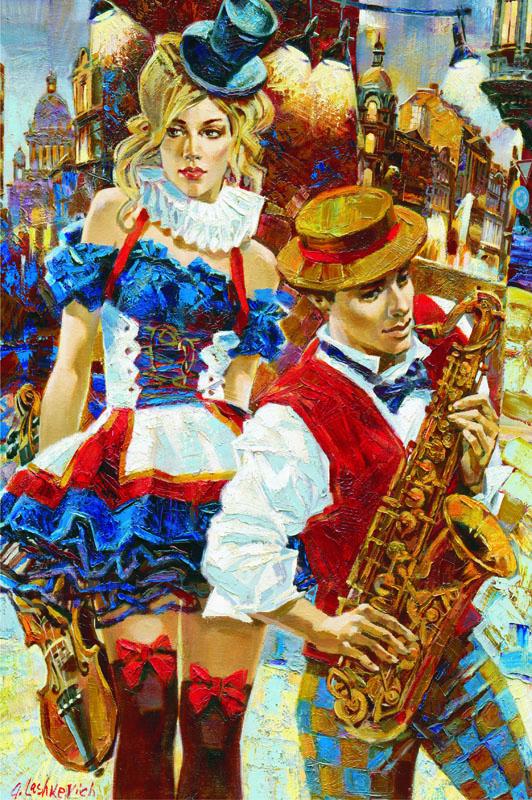 Puzzle Gold Cabaret de 2000 Piezas