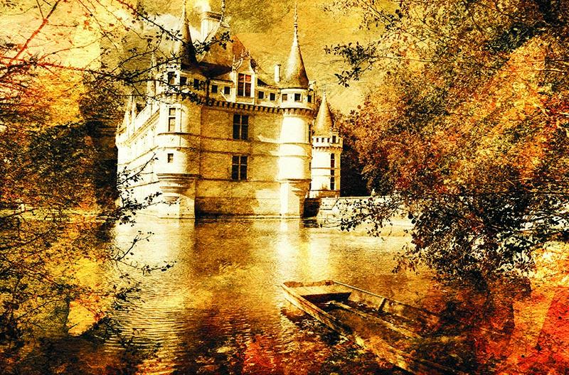 Puzzle Gold Castillo de Azay Le Rideau de 500 Piezas