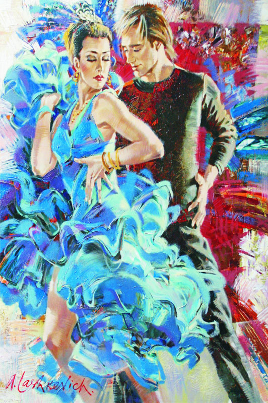 Puzzle Gold Danza en Tonos Azules de 2000 Piezas