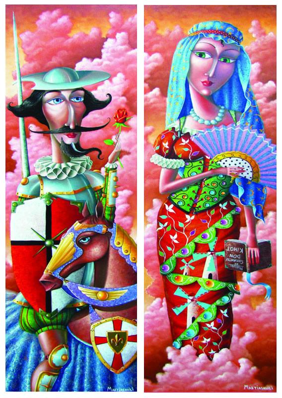 Puzzle Gold Don Quijote y Dulcinea 2 x 1000 Piezas
