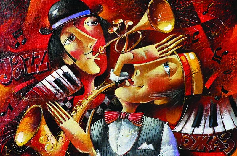 Puzzle Gold Dueto de Jazz de 1000 Piezas