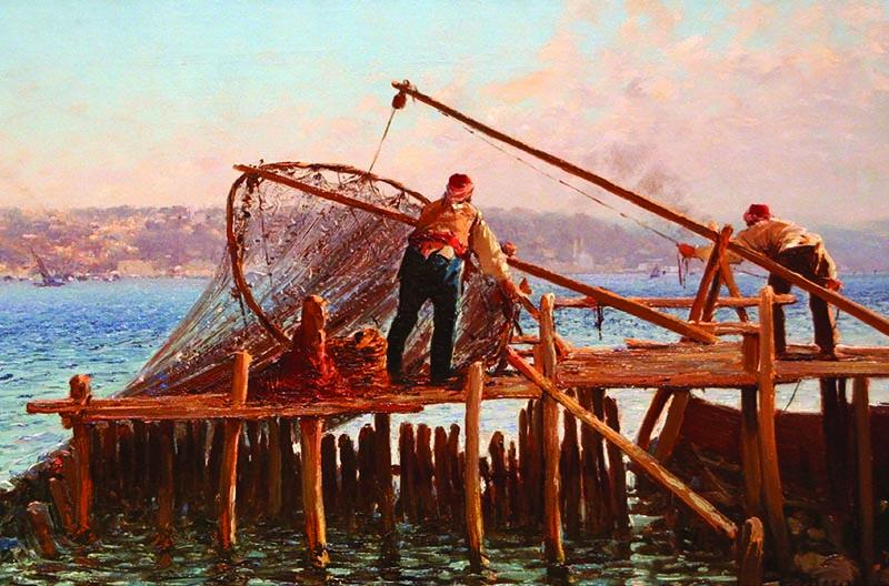 Puzzle Gold Faena de Pescadores de 1000 Piezas