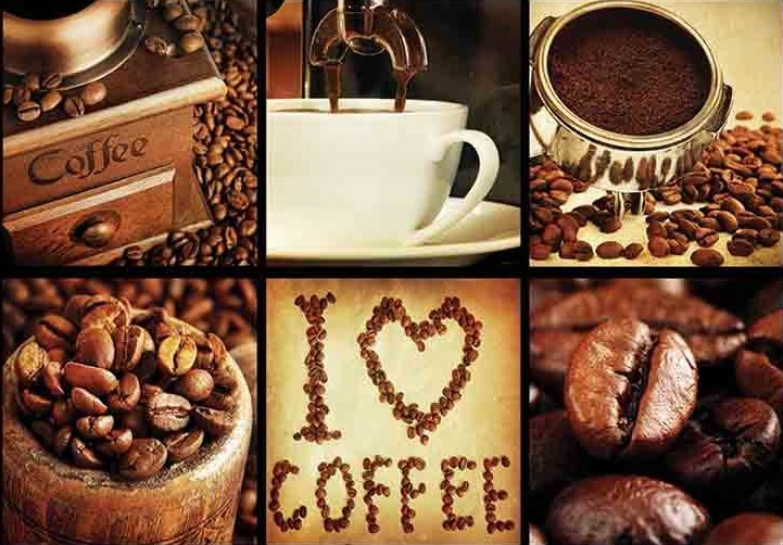 Puzzle Gold I Love Coffee de 1000 Piezas