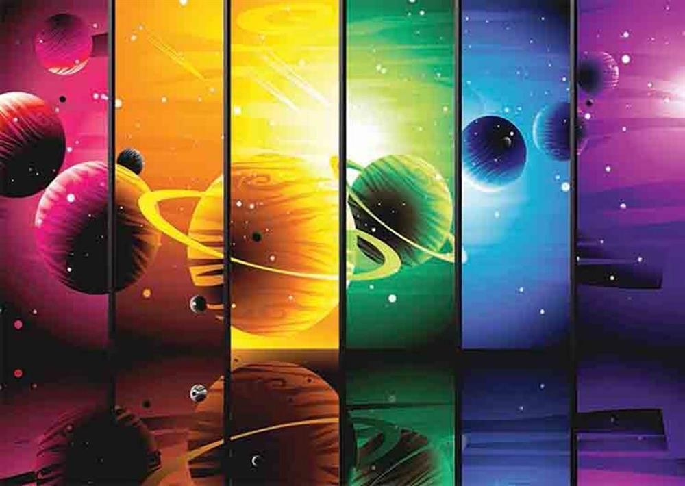 Puzzle Gold Ilustración Planetaria de 1500 Piezas