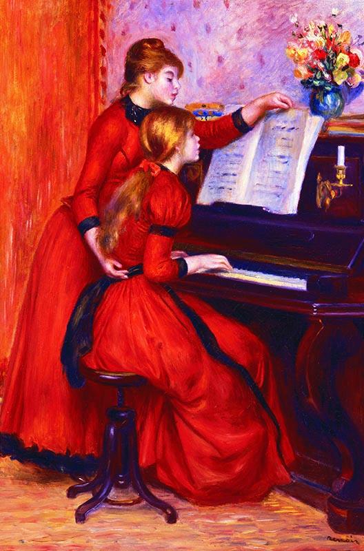 Puzzle Gold Jovencitas al Piano de 1000 Piezas