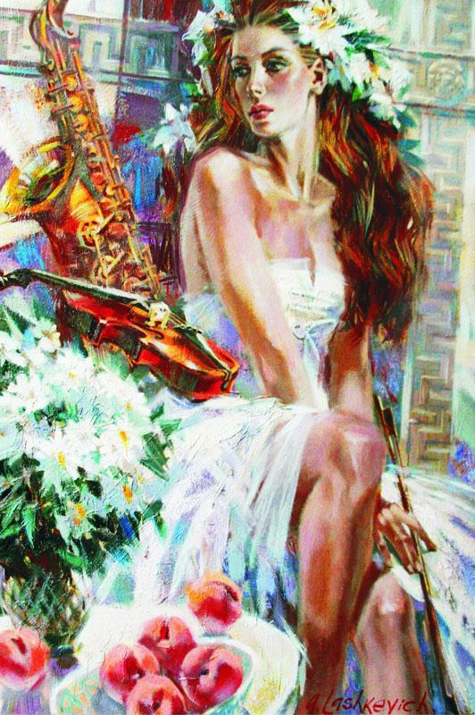 Puzzle Gold La Chica del Saxofón de 1500 Piezas