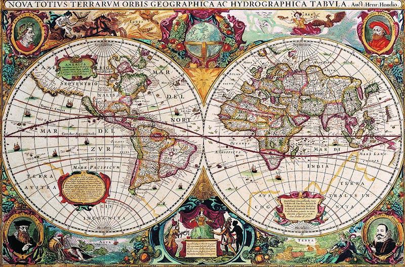 Puzzle Gold Mapa Antiguo de 1000 Piezas