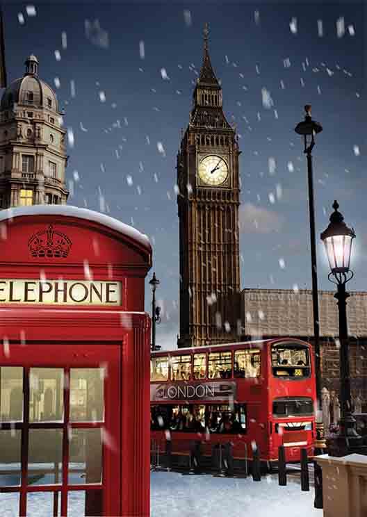 Puzzle Gold Navidad en Londres de 1000 Piezas