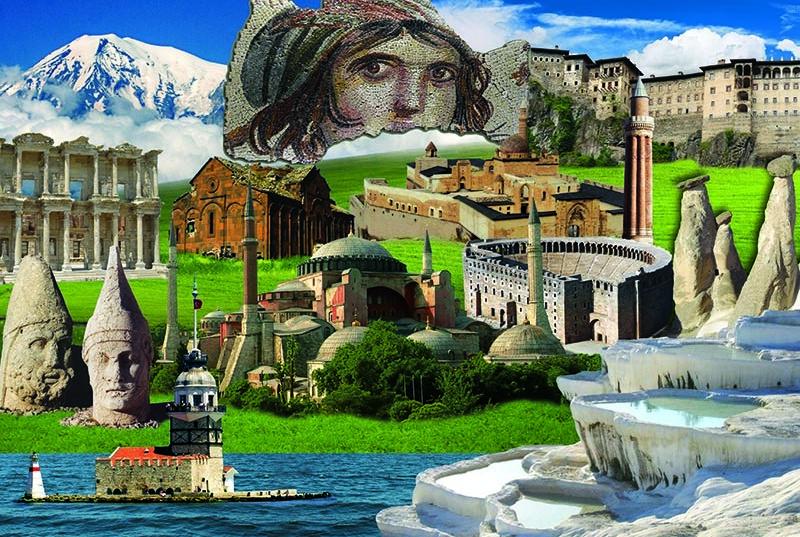 Puzzle Gold Patrimonio Cultural de Turquía de 2000 Piezas