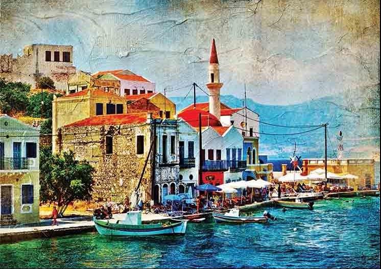 Puzzle Gold Preciosa Isla del Mediterráneo de 1000 Piezas