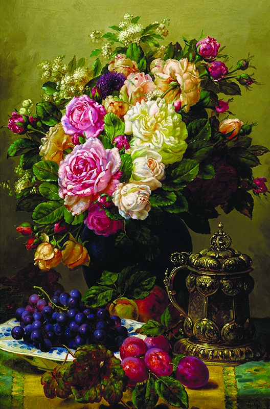 Puzzle Gold Rosas, Uvas y Ciruelas de 1000 Piezas
