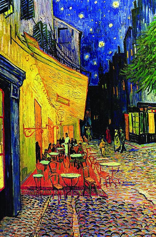 Puzzle Gold Terraza Café de Noche de 1000 Piezas