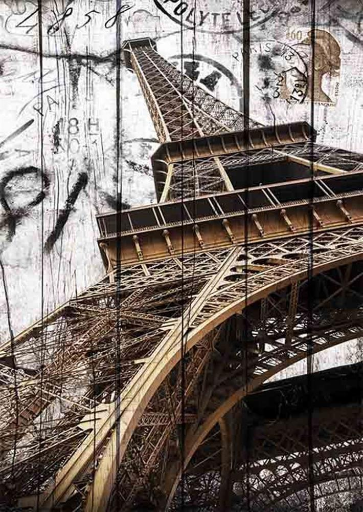 Puzzle Gold Torre Eiffel Vintage de 2000 Piezas