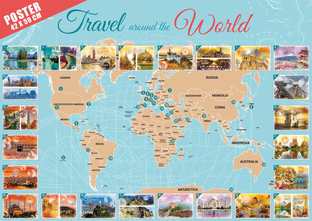Puzzle Grafika Viajando Alrededor del Mundo de 48000 Piezas