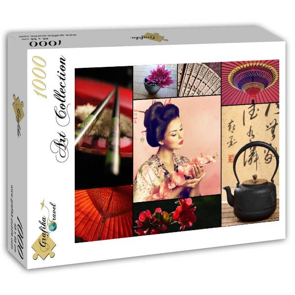 Puzzle Grafika Collage de Japón de 1000 Piezas