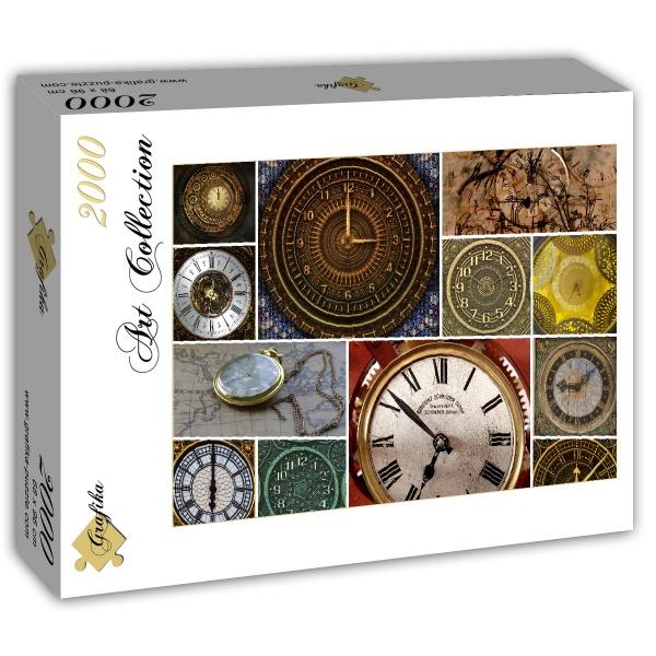 Puzzle Grafika Collage de Relojes de 1500 Piezas