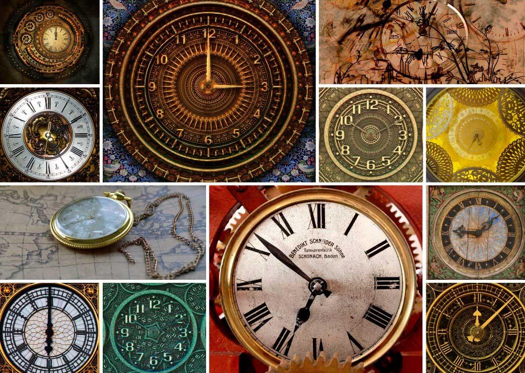 Puzzle Grafika Collage de Relojes de Bolsillo de 1000 Piezas