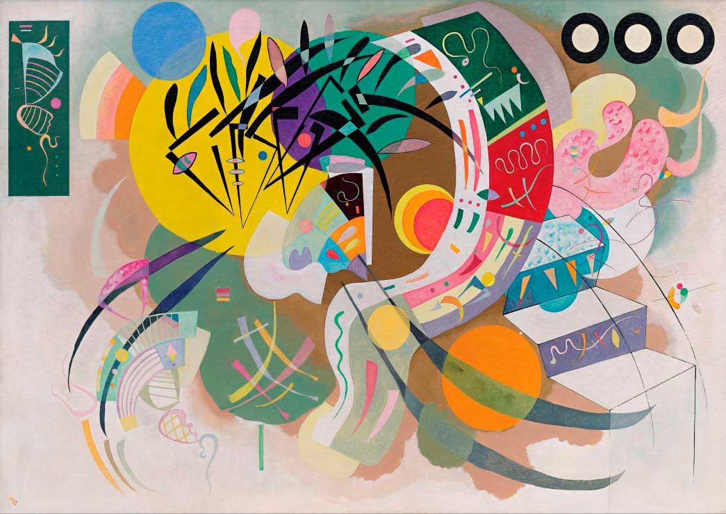 Puzzle Grafika Curva Dominante (1936) de 2000 Piezas