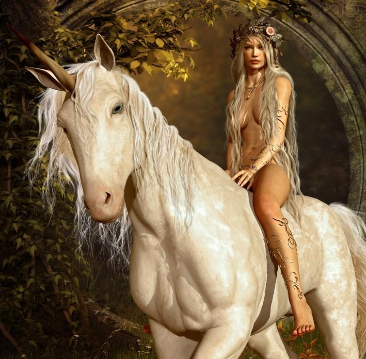 Puzzle Grafika El Hada y el Unicornio de 1500 Piezas