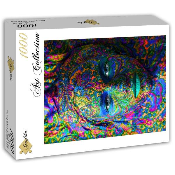 Puzzle Grafika Face Art, Retrato de Mujer de 1000 Piezas