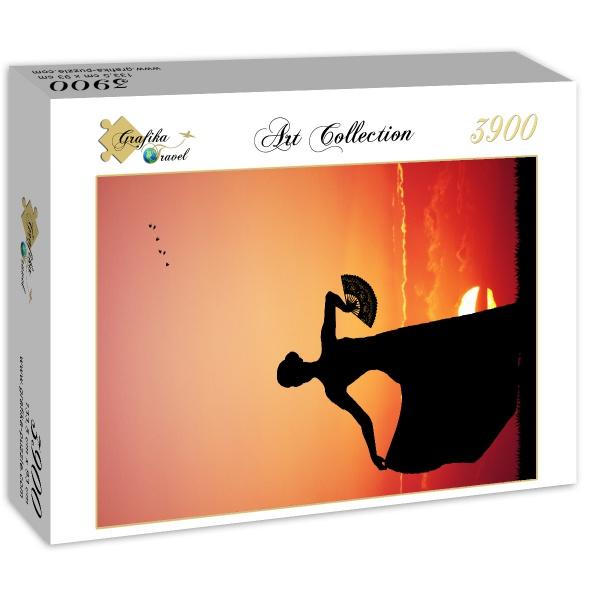 Puzzle Grafika Flamenco al Atardecer de 3900 Piezas