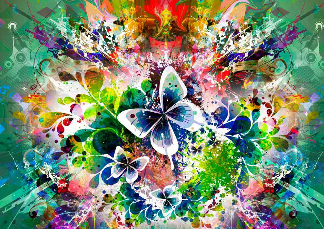 Puzzle Grafika Flores y Mariposas de 2000 Piezas