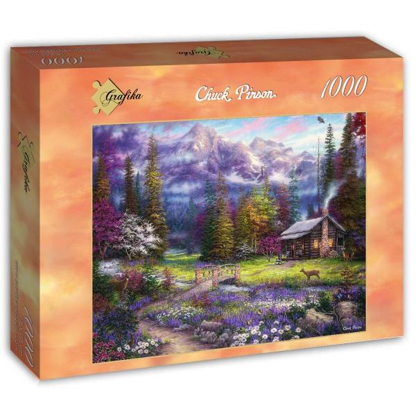 Puzzle Grafika Inspiración Primaveral en el Prado de 1000 Piezas