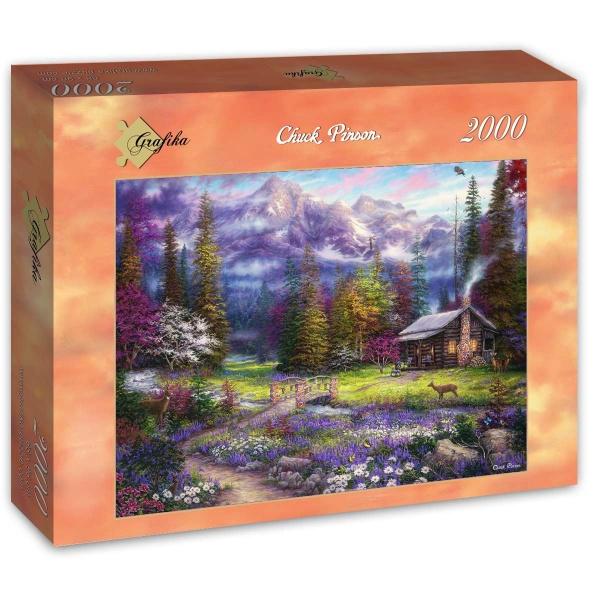 Puzzle Grafika Inspiración Primaveral en el Prado de 2000 Piezas