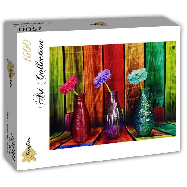 Puzzle Grafika Jarrones Coloridos de 1500 Piezas