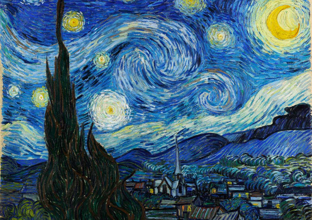 Puzzle Grafika La Noche Estrellada de 2000 Piezas