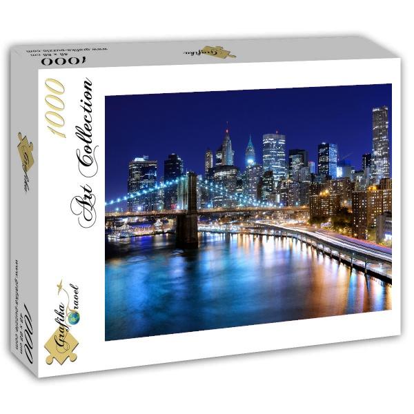 Puzzle Grafika Nueva York por la Noche de 1000 Piezas
