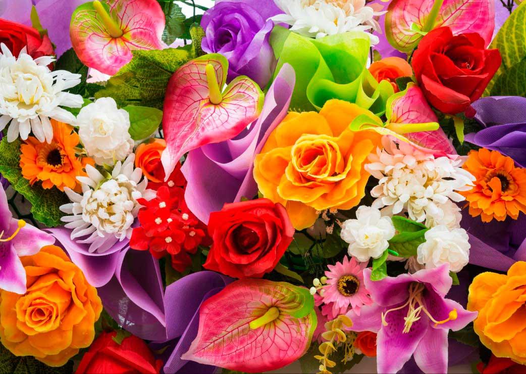 Puzzle Grafika Ramo de Flores Artificiales de 1000 Piezas