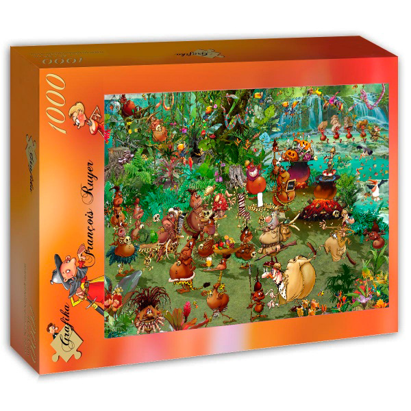 Puzzle Grafika Safari Tribal de 1000 Piezas