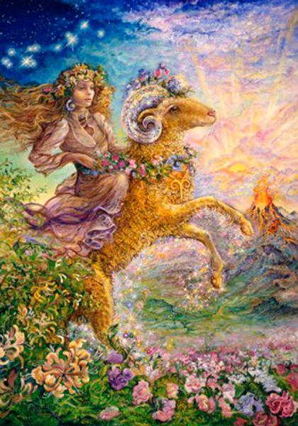 Puzzle Grafika Signo del Zodiaco, Aries de 1000 Piezas