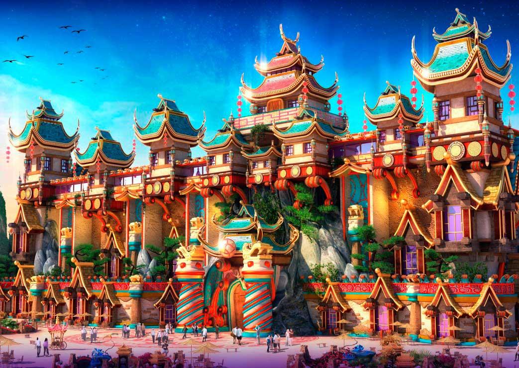 Puzzle Grafika Tierra de Hadas China de 1000 Piezas