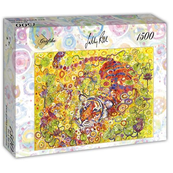 Puzzle Grafika Tigre Nadador de 1500 Piezas