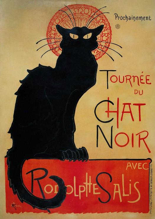 Puzzle Grafika Tournée du Chat Noir de 1000 Piezas