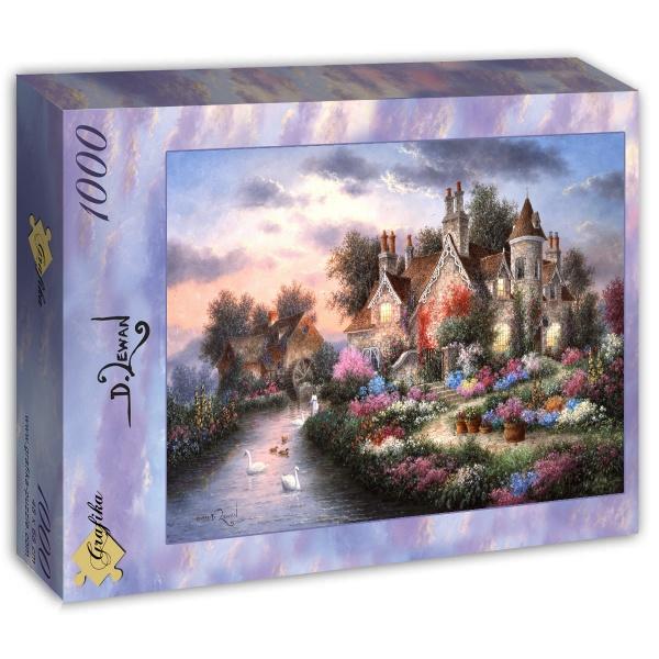 Puzzle Grafika Vieja Cabaña del Molino de 1000 Piezas