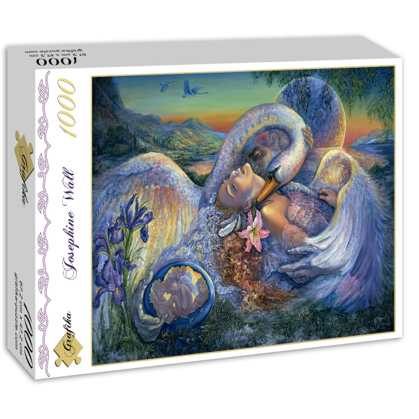 Puzzle Grafika Leda y el Cisne de 1000 Piezas