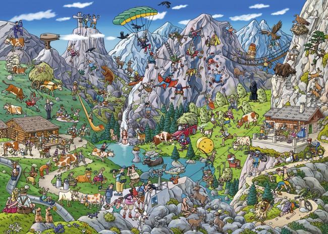Puzzle Heye Alpinismo Divertido de 1000 Piezas