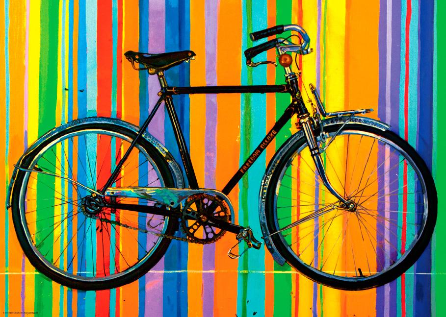 Puzzle Heye Bicicleta PopArt de 1000 Piezas