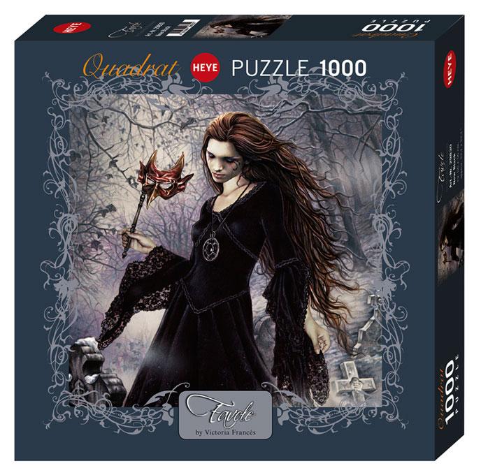 Puzzle Heye Black, Negro  de 1000 Piezas