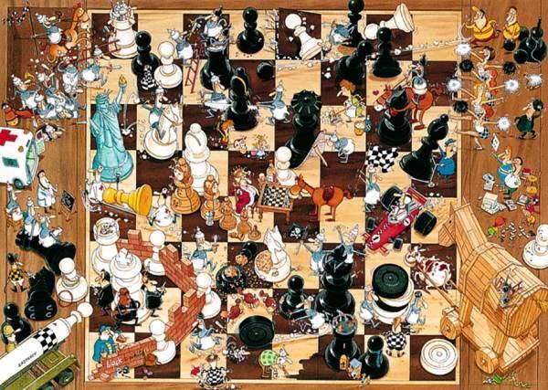 Puzzle Heye Blancas o Negras de 1000 Piezas