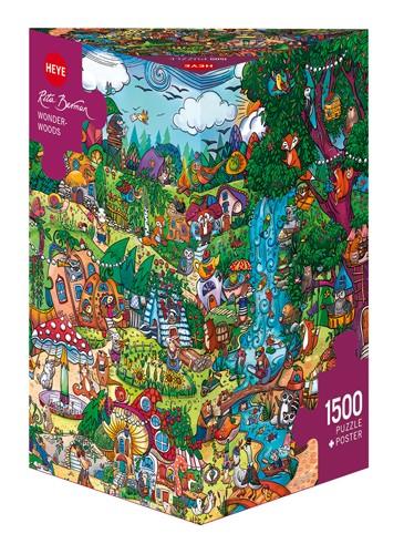 Puzzle Heye Bosque Con Vida 1500 Piezas
