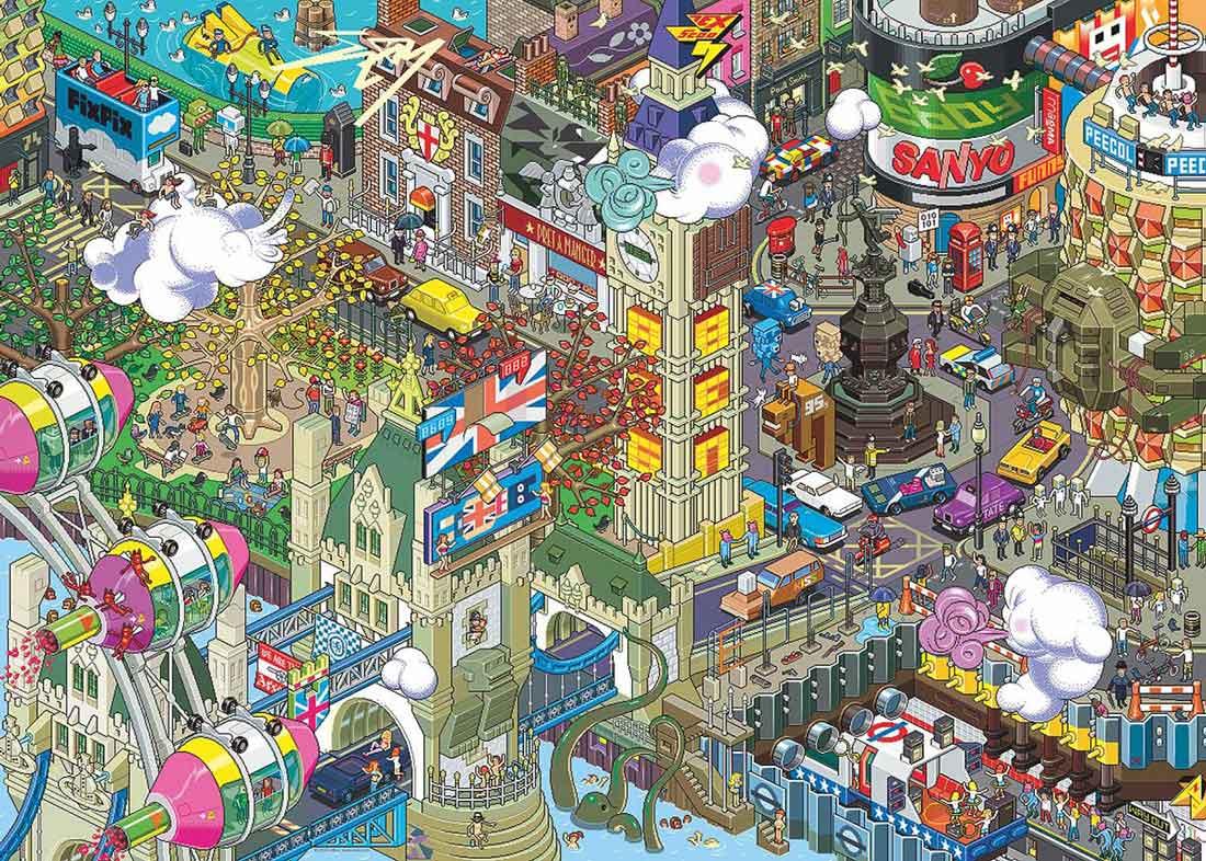 Puzzle Heye Búsqueda en Londres de 1000 Piezas