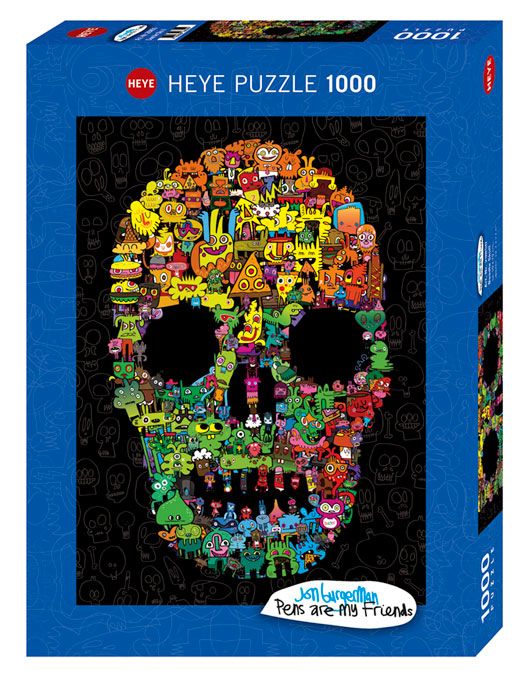Puzzle Heye Calavera de Garabatos de 1000 Piezas