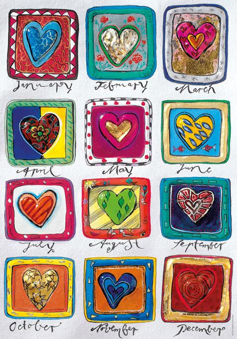 Puzzle Heye Calendario del Amor de 500 Piezas