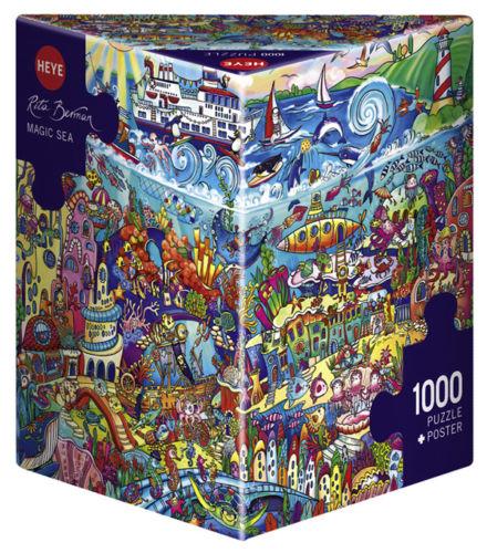 Puzzle Heye Mar Mágico, Caja Triangular de 1000 Piezas