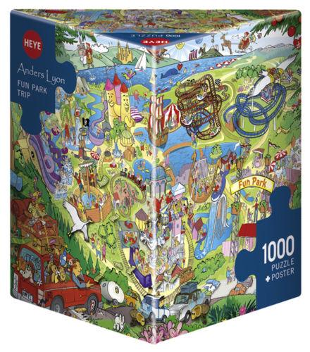Puzzle Heye Parque Divertido, Caja Triangular de 1000 Piezas